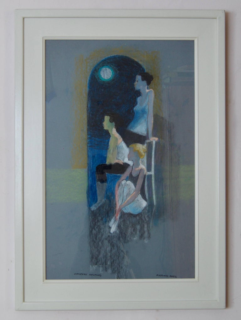 Dancers Resting - Mid-Late 20th Century Impressionist of Ballet by Frank Hill For Sale 1