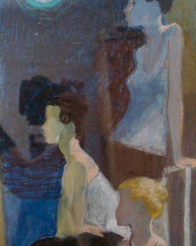 Dancers Resting - Mid-Late 20th Century Impressionist of Ballet by Frank Hill For Sale 2