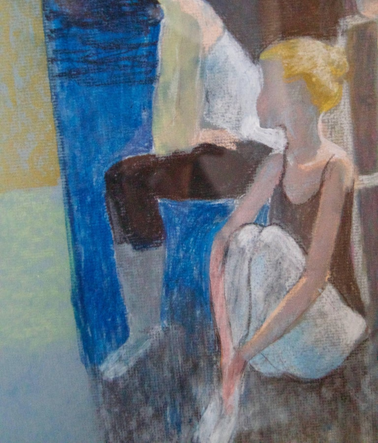 Dancers Resting - Mid-Late 20th Century Impressionist of Ballet by Frank Hill For Sale 5
