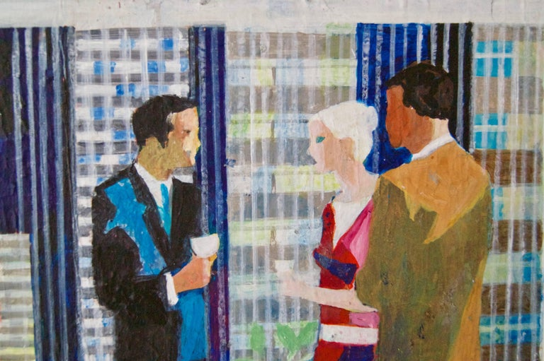 The Cocktail Party in a Skyscraper - Mid-Late 20th Century Oil by Frank Hill 3