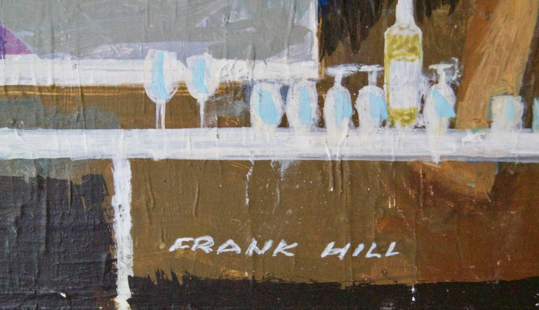The Cocktail Party in a Skyscraper - Mid-Late 20th Century Oil by Frank Hill 5