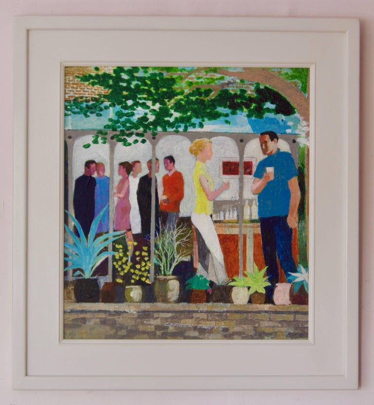 The Garden Party II - Mid - Late 20th Century Impressionist Oil by Frank Hill For Sale 1