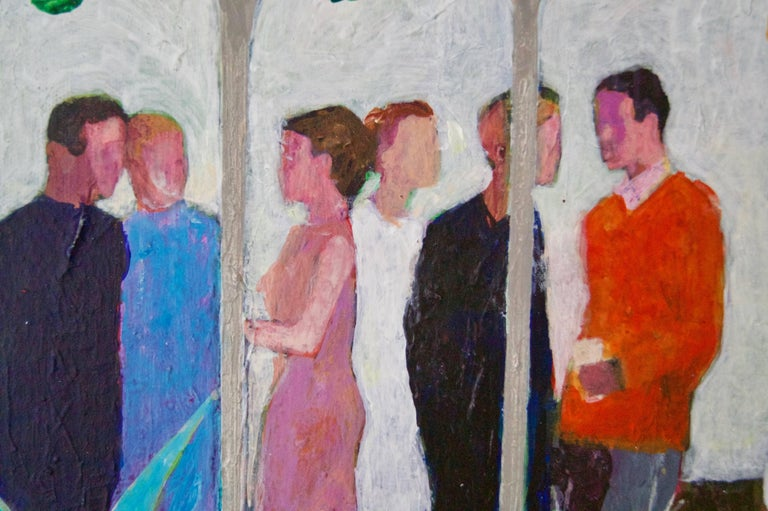 The Garden Party II - Mid - Late 20th Century Impressionist Oil by Frank Hill For Sale 2