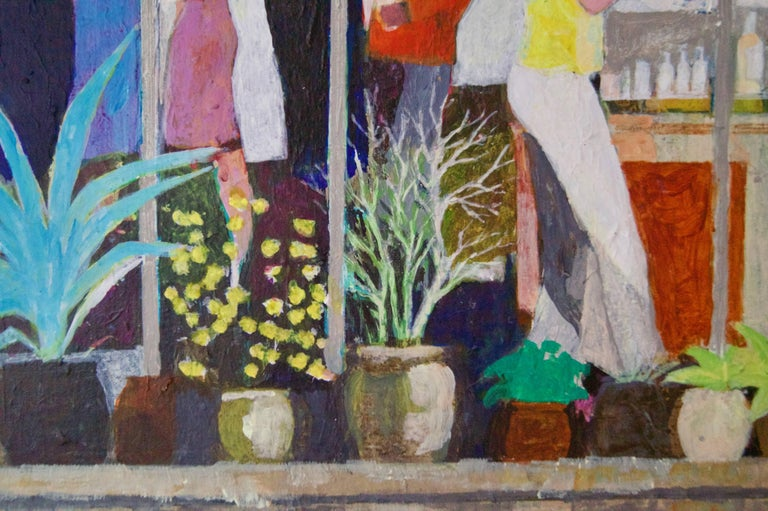 The Garden Party II - Mid - Late 20th Century Impressionist Oil by Frank Hill For Sale 4