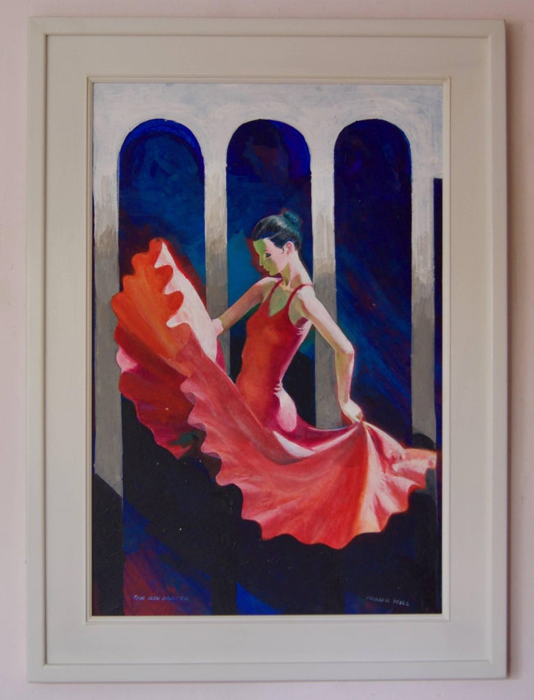 The Red Dancer - Mid-Late 20th Century Figurative Elegant Ballet by Frank Hill For Sale 1