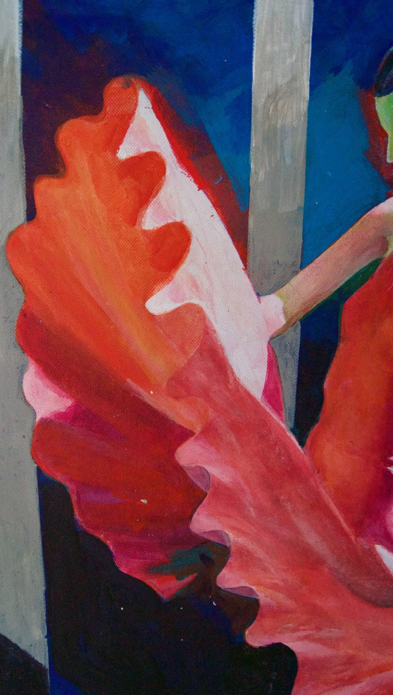 The Red Dancer - Mid-Late 20th Century Figurative Elegant Ballet by Frank Hill For Sale 4