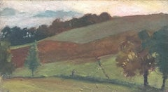 FRANK HOBDEN (1859-1936) FINE 1900s ENGLISH IMPRESSIONIST OIL - AUTUMN FIELDS