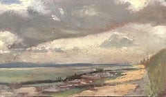 FRANK HOBDEN (1859-1936) FINE 1900s ENGLISH IMPRESSIONIST OIL - COASTAL ESTUARY