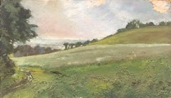 FRANK HOBDEN (1859-1936) FINE 1900s ENGLISH IMPRESSIONIST OIL - RURAL LANDSCAPE