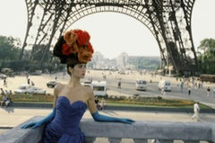 Paris Red Hat and Eiffel Tower, color, 1986