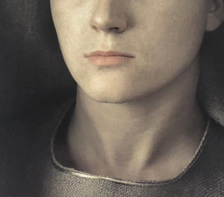 Veronique P., Dye Transfer Print, 1980 - Black Portrait Photograph by Frank Horvat