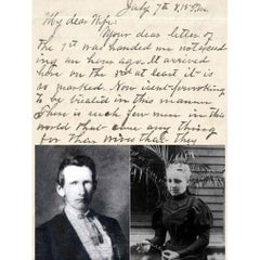 Outlaw Frank James genuine 1883 handwritten letter