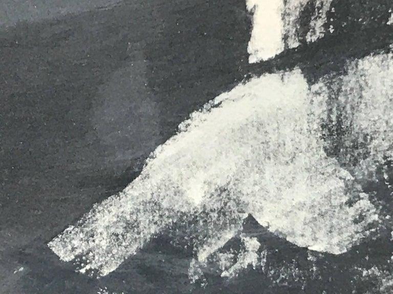 Boy's Head - Black Abstract Print by Frank Kleinholz