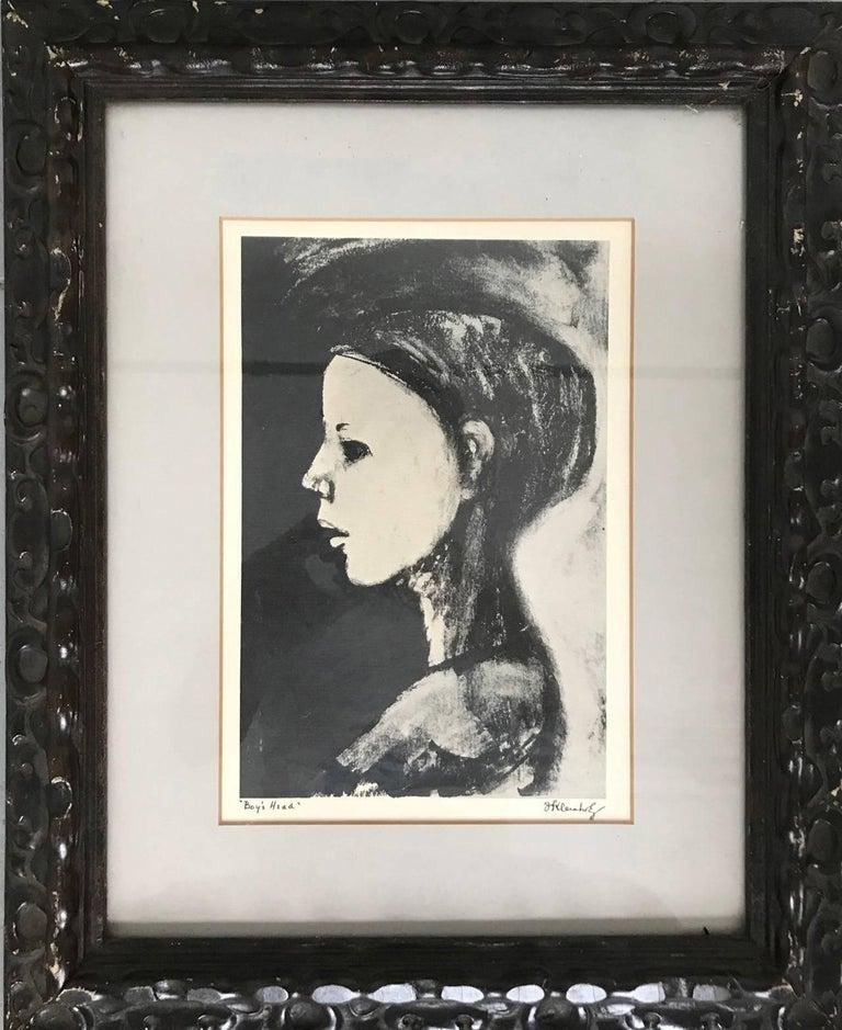 Frank Kleinholz Abstract Print - Boy's Head
