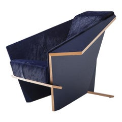 Frank Lloyd Wrigh LImited Edition Blue Taliesina Armchair