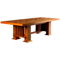 Frank Lloyd Wright 605 Allen Table in Cherrywood by Cassina, circa 1980s