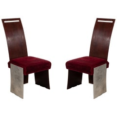 Frank Lloyd Wright American Mahogany Dining Chairs