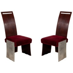 Frank Lloyd Wright American Mahogany Dining Chairs