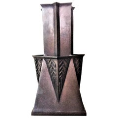 Frank Lloyd Wright, Arts & Crafts Bronze Pocket Vase, Limited Edition 29, 1992