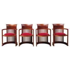 """Frank Lloyd Wright """"Barrel"""" Chairs for Cassina, 1937, Set of 4"""