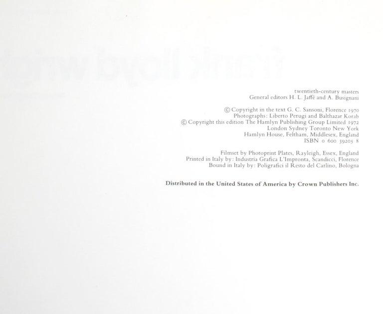 Frank Lloyd Wright by Marco Dezzi Bardeschi For Sale 11