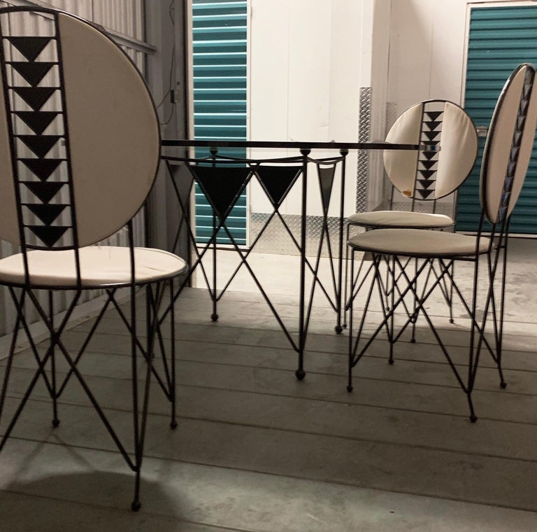 20th Century Frank Lloyd Wright Cassina Midway Steel Dining Set for 6 1914 / 1986 Red & Gray For Sale