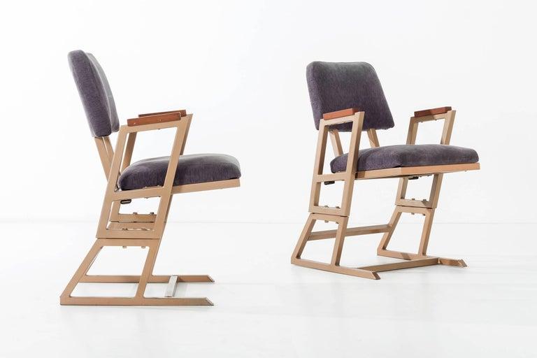 Mid-Century Modern Frank Lloyd Wright Custom Chairs For Sale
