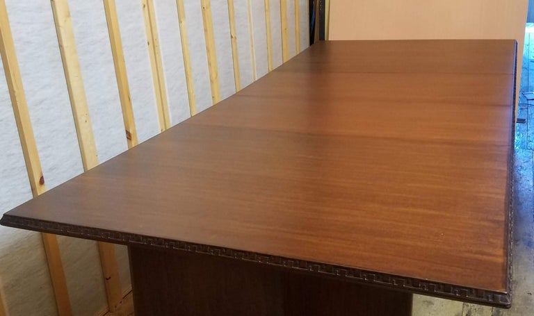 Frank Lloyd Wright Extension Mahogany Dining Table Heritage Henredon, 1955 For Sale 3