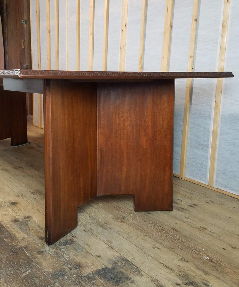 Frank Lloyd Wright Extension Mahogany Dining Table Heritage Henredon, 1955 For Sale 4