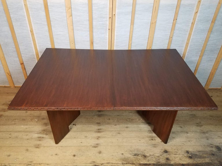 Frank Lloyd Wright Extension Mahogany Dining Table Heritage Henredon, 1955 For Sale 5