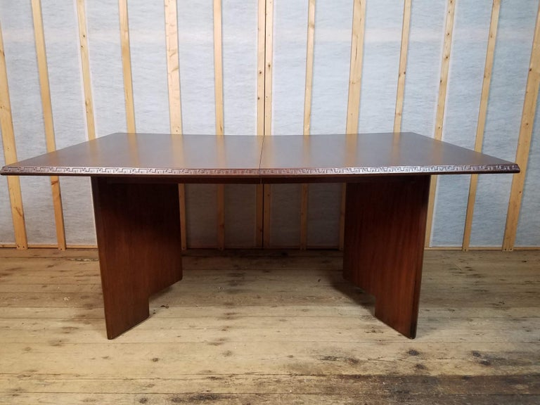 Frank Lloyd Wright Extension Mahogany Dining Table Heritage Henredon, 1955 For Sale 6