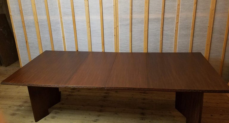 Frank Lloyd Wright Extension Mahogany Dining Table Heritage Henredon, 1955 For Sale 2