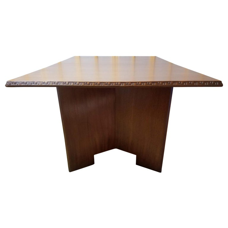 Frank Lloyd Wright Extension Mahogany Dining Table Heritage Henredon, 1955 For Sale