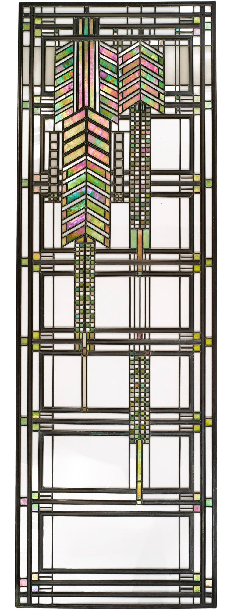Frank Lloyd Wright Favrile Stained Glass S2300 Yamagiwa Table Lamp Lantern, 1994 In Good Condition For Sale In Brooklyn, NY