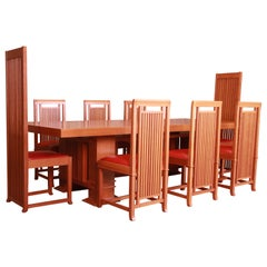 Frank Lloyd Wright for Cassina Arts & Crafts Dining Set, 1986