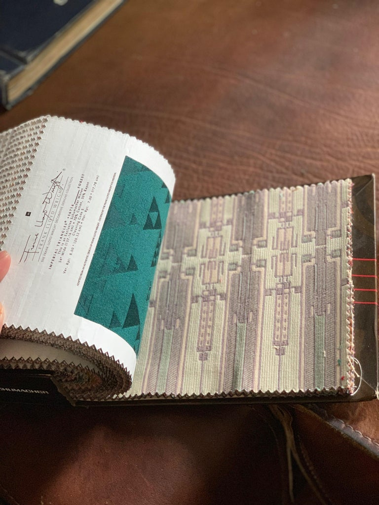Mission Frank Lloyd Wright for Schumacher Large Textile Woven Swatch Collection, 1986 For Sale