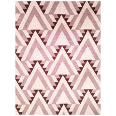 Frank Lloyd Wright for Schumacher Liberty Triangles Geometric Amethyst Textile