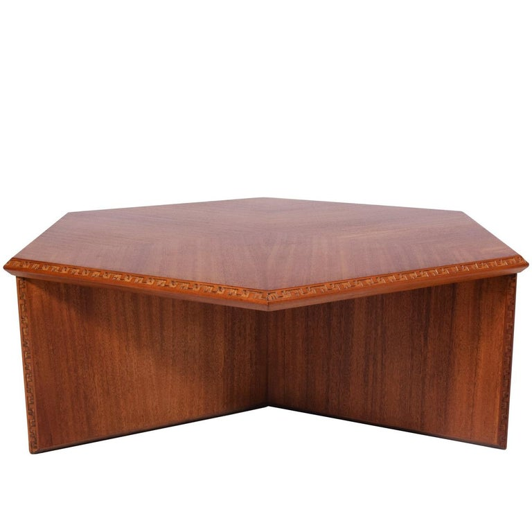 Frank Lloyd Wright Hexagonal Coffee Table for Heritage-Henredon For Sale