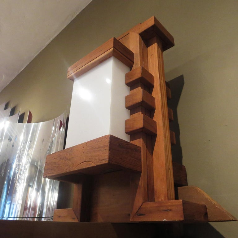 American Frank Lloyd Wright Inspired Wall Lamp For Sale