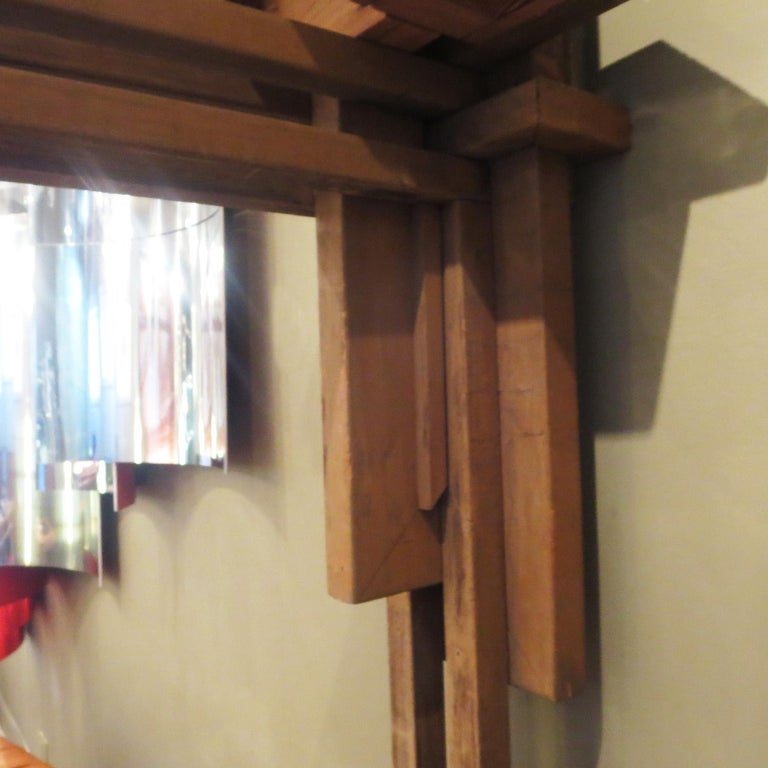 Wood Frank Lloyd Wright Inspired Wall Lamp For Sale