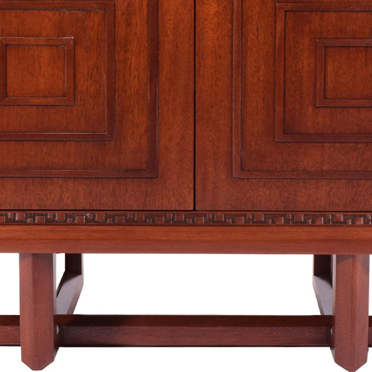 Mid-20th Century Frank Lloyd Wright Mahogany Cabinet for Heritage Henredon For Sale