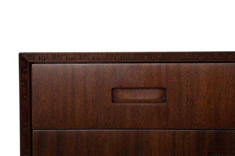 Mid-Century Modern Frank Lloyd Wright Mahogany Chest for Henredon For Sale