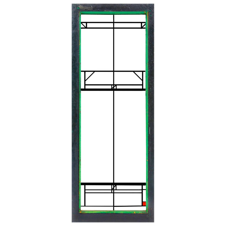 """Frank Lloyd Wright Stained Glass Window """"Northome House"""" LightScreen 1912 - 1914 For Sale"""
