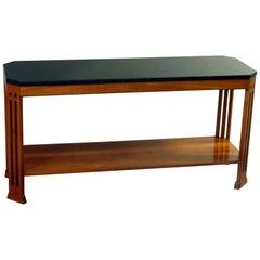 Frank Lloyd Wright Prairie School Arts & Crafts Cherry Sofa Table by Stickley