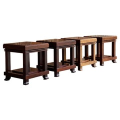 Frank Lloyd Wright 'Robie' Side Tables or Stools Manufactured by Cassina