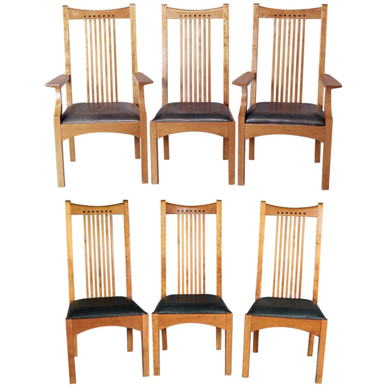 de75c621df Frank Lloyd Wright School Arts & Crafts Style Cherry Dining Chairs by  Stickley For Sale. Set of 6 ...