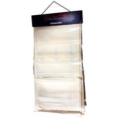 Frank Lloyd Wright Schumacher Sheer Textile Oversized Sample Reference, 1986
