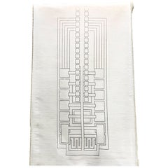 Frank Lloyd Wright Schumacher Sheer Textile Oversized Sample Reference, 1986