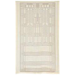 Frank Lloyd Wright Schumacher Sheer Textile Panel Curtain, Drape, Tapestry, 1955