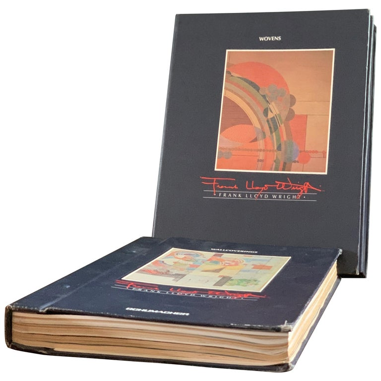 Frank Lloyd Wright Schumacher Wallcoverings & Woven Catalogue Reference Set 1986 For Sale